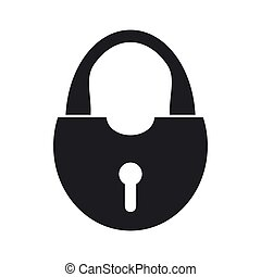 Illustration of security icon. Lock - Vector illustration of...