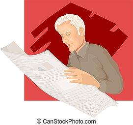Illustration of Senior citizen
