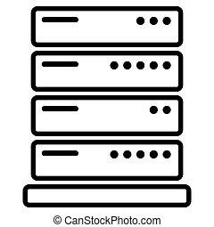 server icon on white background