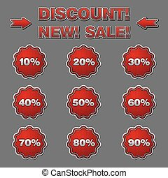 discount labels and stickers for sales