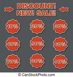 adverising discount labels