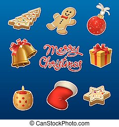 christmas celebration stickers