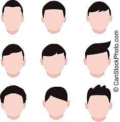 set of flat icons cartoon people
