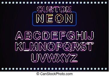 Set retro custom neon signs