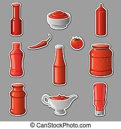 ketchups and sauces stickers
