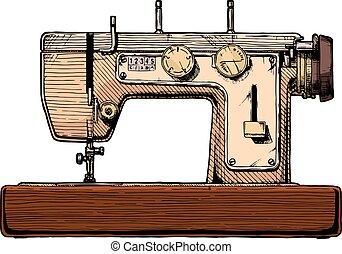 illustration of sewing machine