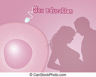 sex education - illustration of sex education