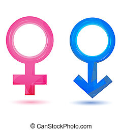 illustration of sex icons on isolated background