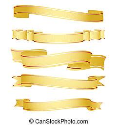 shapes of ribbon - illustration of shapes of ribbon on white...