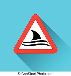 shark warning sign concept
