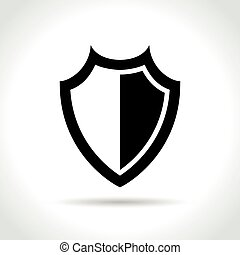 shield icon on white background