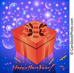 shining Christmas background with gift