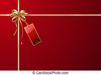 gift wrapping - illustration of shiny gift wrapping with ...