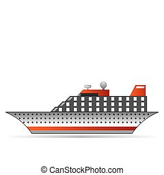 ship - illustration of ship on white background