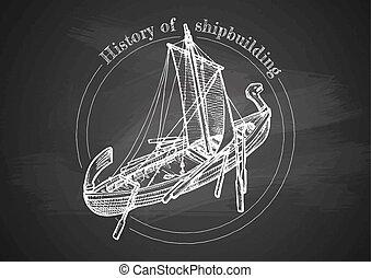 Illustration of shipbuilding