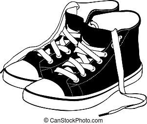 illustration of shoes isolated on white