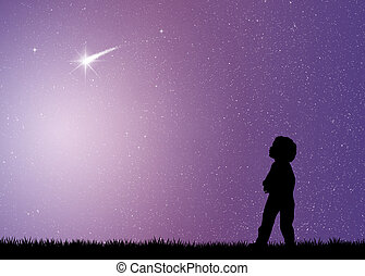 shooting stars - illustration of shooting stars