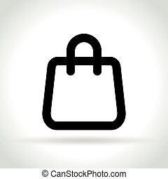 shopping bag icon on white background