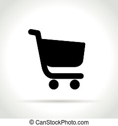 shopping cart icon on white background