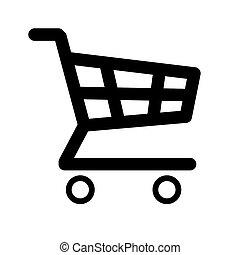 Shopping Cart Icon Silhoutte. JPEG Raster Image . -...
