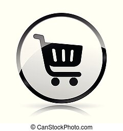 shopping icon on white background