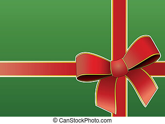 tied ribbon - illustration of silk tied ribbon with green ...