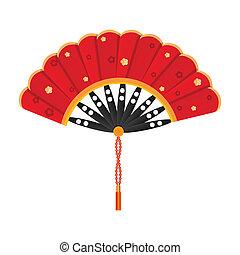 silky fan - illustration of silky fan on white background