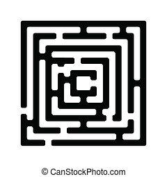 Illustration of simple black maze