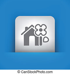 Illustration of single vector icon.