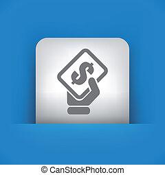 Illustration of single vector icon. - Vector illustration of...