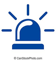 siren blue icon on white background
