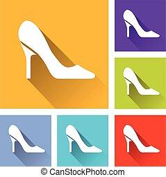 six high heels icons - Illustration of six high heels icons