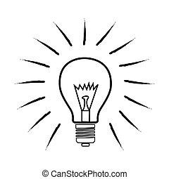 sketchy bulb - illustration of sketchy bulb on white...