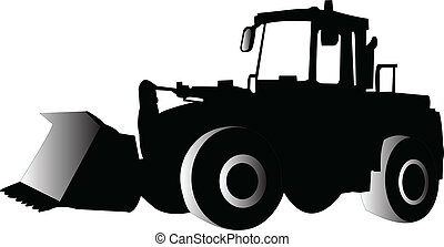 illustration of skid loader - vector