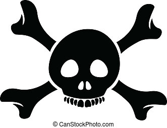 Skull and the Crossbones Cartoon - Illustration of Skull and...