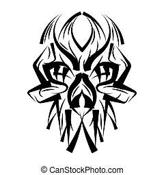 Illustration of skull in ace.