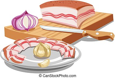 sliced pork lard