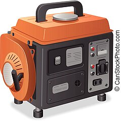 home power generator - illustration of small home power...