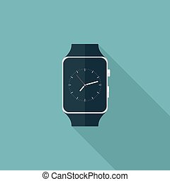 Smart Watch Flat Icon
