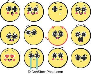 illustration of smileys
