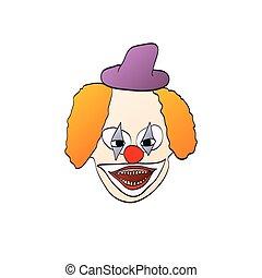 illustration of smiling clown