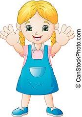 Smiling girl cartoon