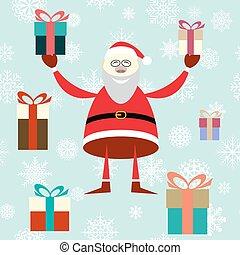 Illustration of smiling Santa Claus