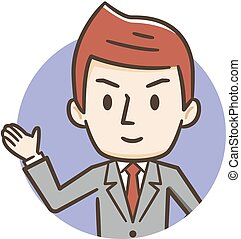 Illustration of smiling young businessman