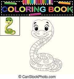 snake coloring book