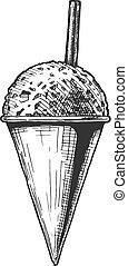 illustration of Snow Cones. - Vector hand drawn illustration...