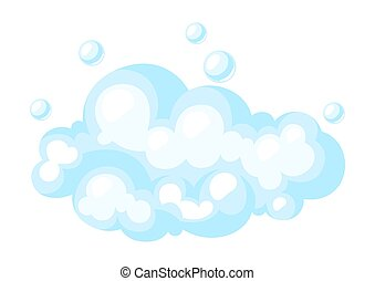 Illustration of soap suds with bubbles.