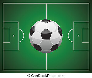 soccer ball in front of the field