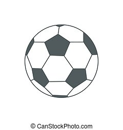illustration of soccer-ball isolated on white for your design