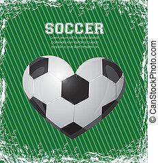 illustration of soccer heart